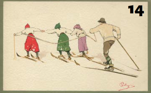Skier Illustrations by Carlo Pellegrini